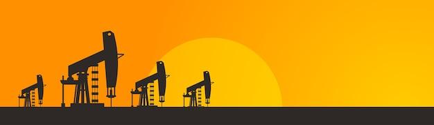 Pumpjack oil rig crane platform