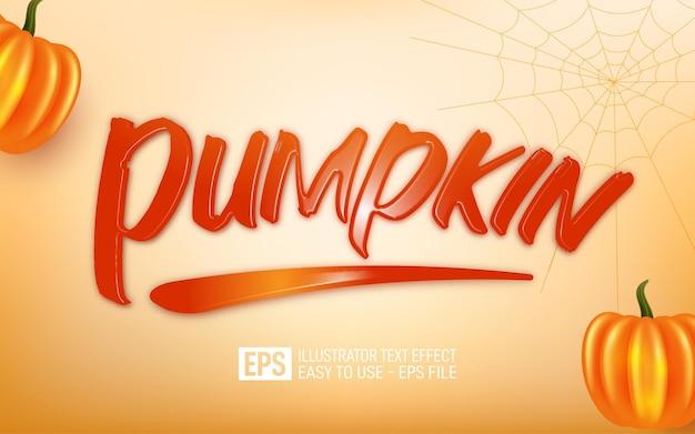Pumpkin 3d text editable style effect templatet
