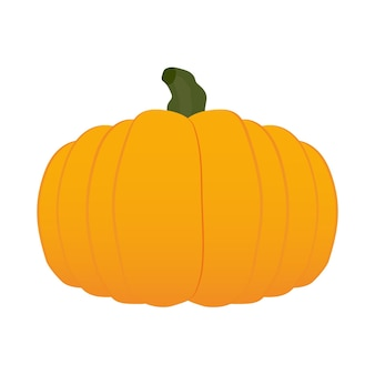 Pumpkin in 3d.volumetric pumpkin isolated on white background. good for halloween-themed design. vector.