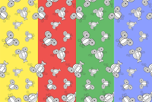 할로윈 호박 마차 패턴