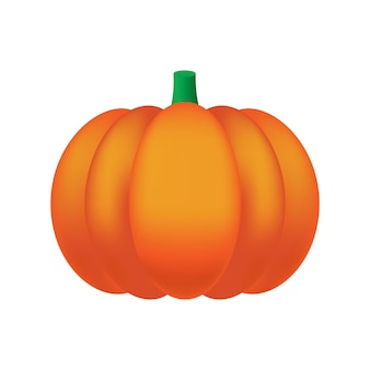 Pumpkin cartoon isolated on white background for halloween decoration a