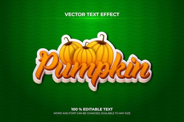 Pumpkin editable 3d text