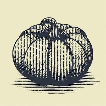 Pumpkin engraving