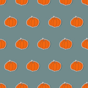 Pumpkin in a flat style. pumpkin sticker. suitable for backgrounds, cards and wrapping paper. vector.