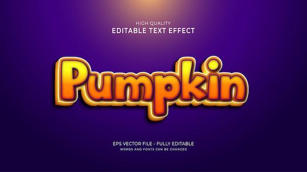 Pumpkin font style effect. editable cartoon text style effect