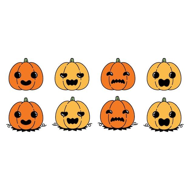 Pumpkin halloween ghost illustration