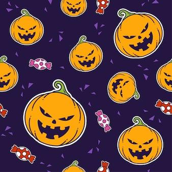 Pumpkin halloween seamless pattern print design