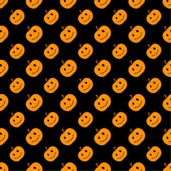 Pumpkin halloween seamless pattern