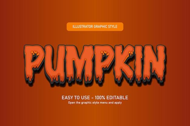 Pumpkin halloween text effect