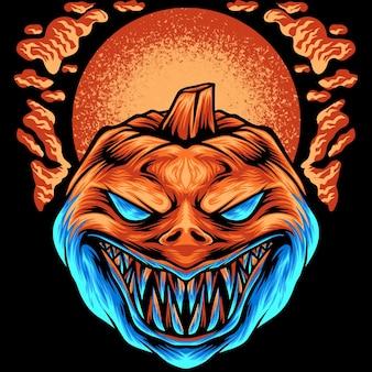 The pumpkin halloween