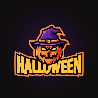 Тыквенная голова хэллоуин талисман киберспорт логотип назн