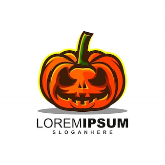 Pumpkin logo template