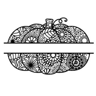 흰색 배경에 고립 된 호박 모노그램