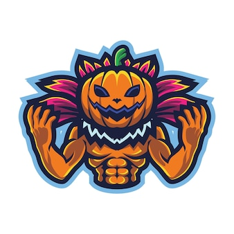 Логотип pumpkin monster esport