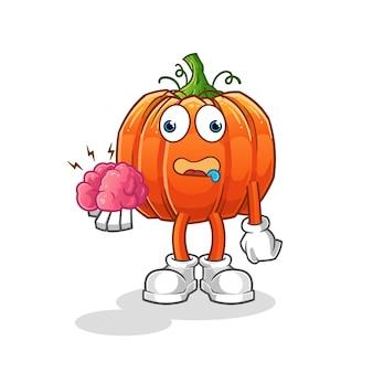 Pumpkin no brain . cartoon character