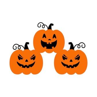 Тыква на белом фоне оранжевая тыква с улыбкой для вашего дизайна на праздник хэллоуина