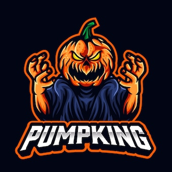 Pumpkin scary esports logo for sport and esports team