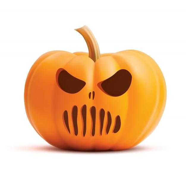 Pumpkin scary halloween face.