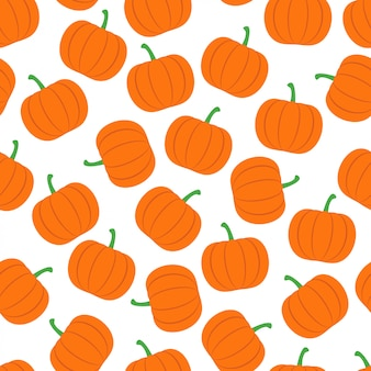 Pumpkin seamless pattern background vector design