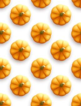 カボチャのシームレスなパターン。現代の秋の背景。ベクターイラストeps10