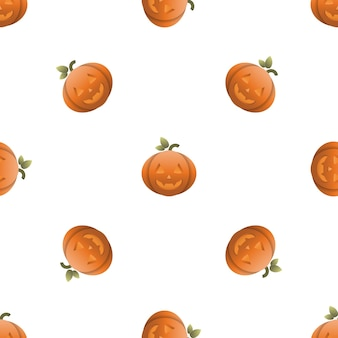 Pumpkin seamless pattern on a white background. bright seamless food pattern. suitable for packaging, backgrounds, cards and textiles.
