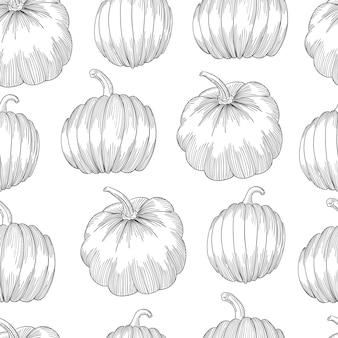 Pumpkin seamless pattern.