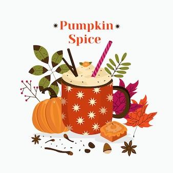 Pumpkin spice goodie illustration