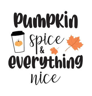 Pumpkin spice lettering