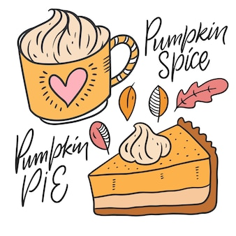 Pumpkin spice and pumpkin pie