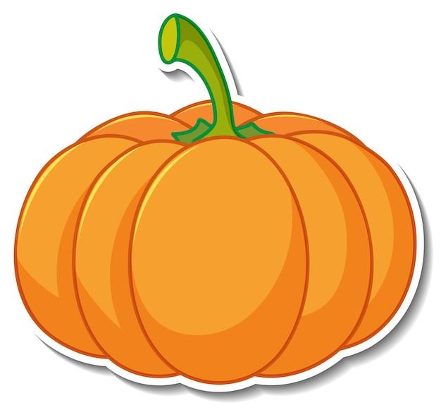 Pumpkin sticker on white