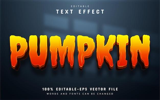 Pumpkin text effect editable