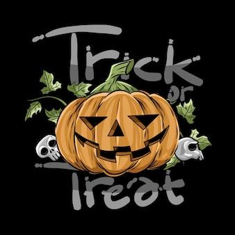 Pumpkin trick or teart design vector