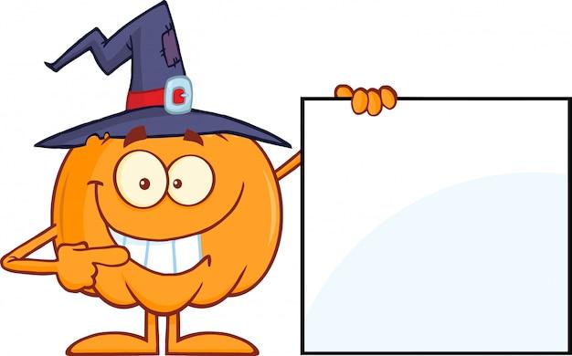Тыква с шляпой ведьмы