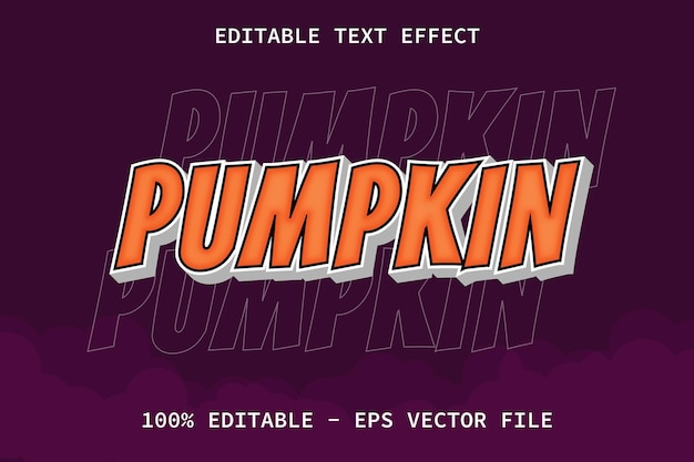 Pumpkin with modern style editable text effect