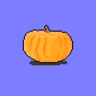 A pumpkin with pixel art style