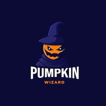 Pumpkin wizard logo