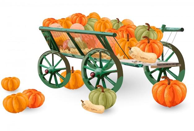 Pumpkins cart