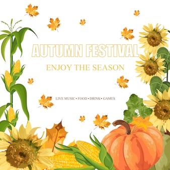 Pumpkins harvest template