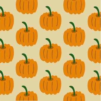 Pumpkins pattern background social media post vector illustration