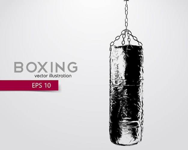 Punching bag silhouette illustration