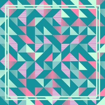 Punchy pastel triangle memphis abstract geometric pattern