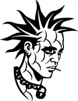 Punk adolescente testa uomo