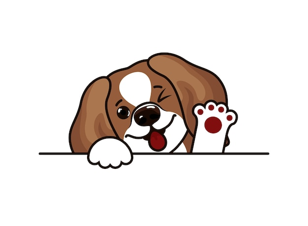 Щенок бигль собака голова эскиз иллюстрация