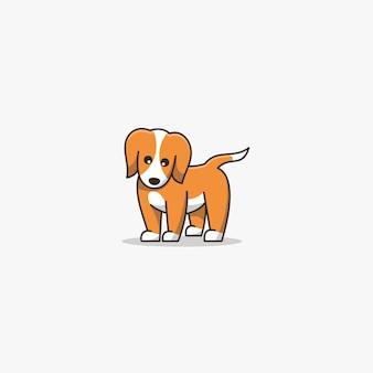 Puppy cute pose mascot.