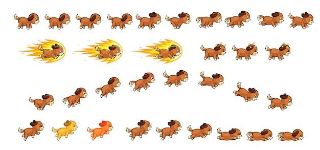 Puppy dog game sprites