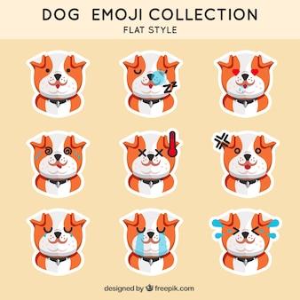 Коллекция смайликов щенок