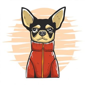 강아지 패션 일러스트