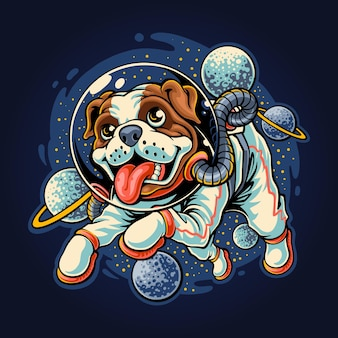 Puppy goes to space