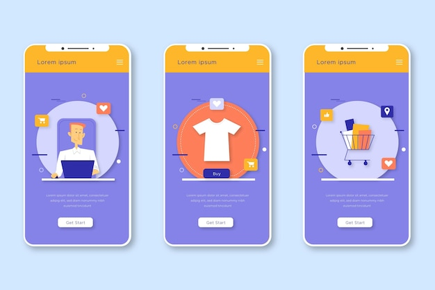 Purchase online concept