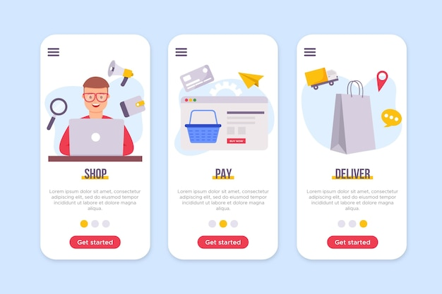 Purchase online interface concept